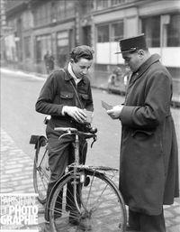 Contrôle de vignette à bicyclette