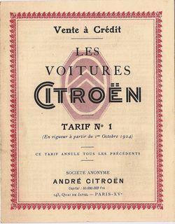 1er tarif crédit Citroën